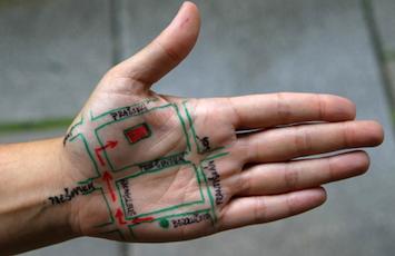 map-hand